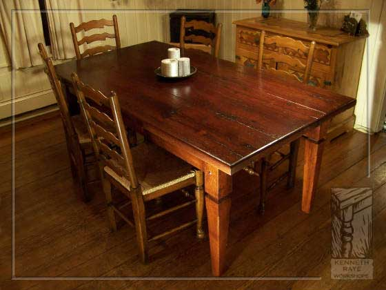 Barnwood Tables Hand Crafted From Reclaimed Lumber